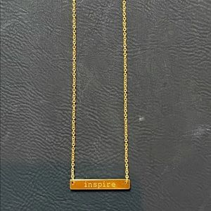 """""""Inspire"""" Gold Bar Necklace"""